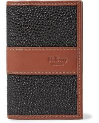 Mulberry - Leather-trimmed Pebble-grain Coated-canvas Cardholder - Lyst
