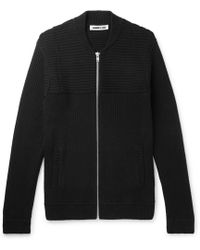 McQ - Ribbed Cotton-blend Zip-up Cardigan - Lyst