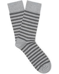 John Smedley - Hecate Striped Sea Island Cotton-blend Socks - Lyst