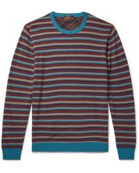 Altea - Striped Wool-blend Jumper - Lyst