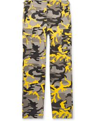 Balenciaga - Slim-fit Camouflage-print Cotton-twill Cargo Trousers - Lyst