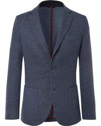 Loro Piana - Blue Unstructured Cashmere-blend Blazer - Lyst