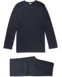 Zimmerli - Pinstriped Cotton-jersey Pyjama Set - Lyst