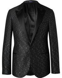 Lanvin - Black Slim-fit Paliette-embellished Jacquard Blazer - Lyst