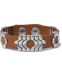 Isabel Marant Leather And Silver-tone Bracelet - Brown