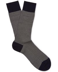 Pantherella - Fabian Herringbone Cotton-blend Lisle Socks - Lyst