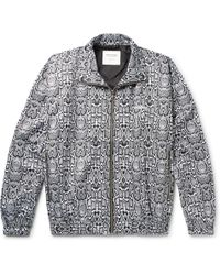 eff9f14273f7 Gucci Space Snake-print Detachable-hood Jacket in Black for Men - Lyst