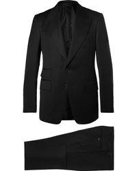 Tom Ford - Icon Black Shelton Slim-fit Grain De Poudre Wool-blend Suit - Lyst