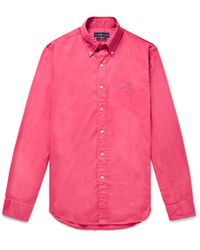 Polo Ralph Lauren - Slim-fit Garment-dyed Button-down Collar Cotton-twill Shirt - Lyst