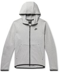 7996f068cf13 Nike - Sportswear Mélange Cotton-blend Tech Fleece Zip-up Hoodie - Lyst