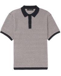 Rag & Bone - Finn Slim-fit Striped Stretch Cotton-blend Polo Shirt - Lyst
