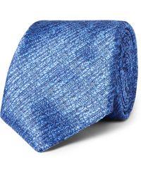 Canali - 8cm Textured-silk Tie - Lyst