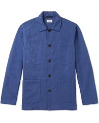 Hartford - Jobson Cotton And Linen-blend Canvas Chore Jacket - Lyst