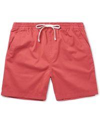 J.Crew | Stretch-cotton Twill Drawstring Shorts | Lyst