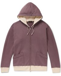 Chimala - Contrast-trimmed Loopback Cotton-jersey Hoodie - Lyst
