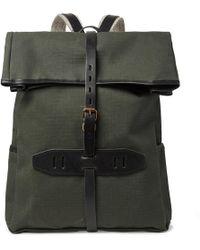 Bleu De Chauffe - Jamy Leather-trimmed Regentex Ripstop Backpack - Lyst