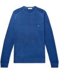 Etro - Garment-dyed Merino Wool Jumper - Lyst