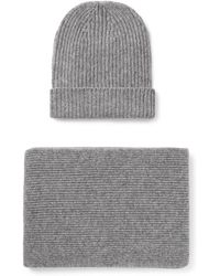 William Lockie - Ribbed Cashmere Hat And Scarf Set - Lyst