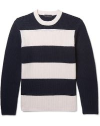 JOSEPH - Striped Ribbed Cashmere Sweater - Lyst