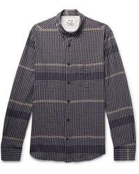 Acne Studios - Isherwood Slim-fit Checked Stretch-cotton Shirt - Lyst