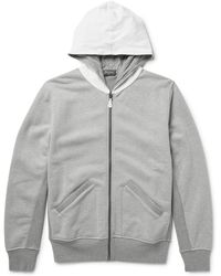Berluti - Leather-trimmed Loopback Cotton-jersey Zip-up Hoodie - Lyst