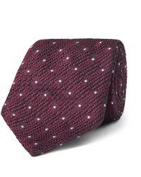 Canali - 8cm Polka-dot Silk-jacquard Tie - Lyst