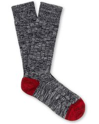 The Workers Club - Mélange Cotton-blend Socks - Lyst