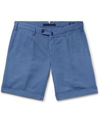Incotex - Slim-fit Garment-dyed Linen And Cotton-blend Shorts - Lyst