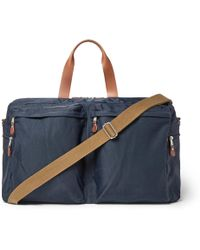 J.Crew | Harwick Leather-trimmed Canvas Holdall | Lyst