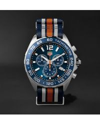 Tag Heuer | Formula 1 Chronograph 43mm Steel And Nato Webbing Watch | Lyst