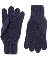 Drake's - Ribbed Donegal Merino Wool Gloves - Lyst