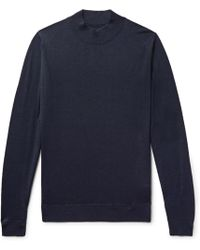 John Smedley - Slim-fit Wool Mock-neck Jumper - Lyst