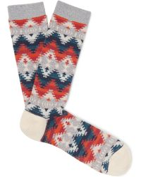 Anonymous Ism - Cotton-blend Jacquard Socks One Size - Lyst
