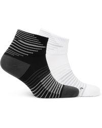Nike - Two-pack Performance Lightweight Quarter Dri-fit Socks - Lyst