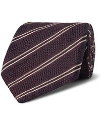 Tom Ford - 8cm Striped Knitted Silk Tie - Lyst