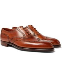 George Cleverley - Reuben Leather Brogues - Lyst