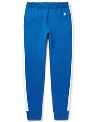 Todd Snyder - Slim-fit Tapered Striped Loopback Cotton-jersey Joggers - Lyst