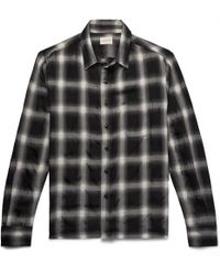 Simon Miller - Checked Wool-blend Shirt - Lyst