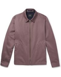 PS by Paul Smith - Cotton And Linen-blend Blouson Jacket - Lyst