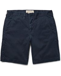 Remi Relief - Washed-cotton Twill Shorts - Lyst