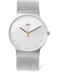 Braun - Bn0211 Classic Slim Stainless Steel Mesh Watch - Lyst