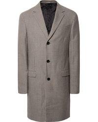 Lanvin - Houndstooth Wool Coat - Lyst
