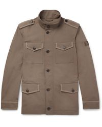 Tod's - Cotton And Linen-blend Field Jacket - Lyst