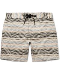 Outerknown - Evolution Long-length Printed Econyl Swim Shorts - Lyst