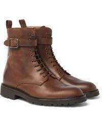 Belstaff - Paddington Buckled Leather Boots - Lyst