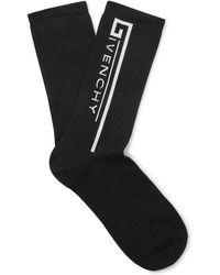 Givenchy - Logo-intarsia Stretch Cotton-blend Socks - Lyst