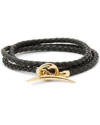 Shaun Leane - Quill Woven Leather And Gold-plated Wrap Bracelet - Lyst