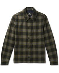 PS by Paul Smith - Checked Wool-blend Shirt Jacket - Lyst