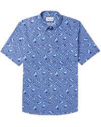 THORSUN Maze Printed Cotton Shirt - Blue 4YPpNHyq6B