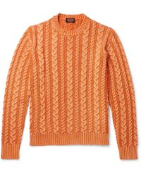 Tod's - Cable-knit Merino Wool Sweater - Lyst